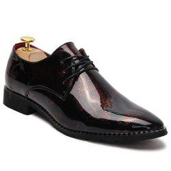 Stylish Pointed Toe and Patent Leather Design Men's Formal Shoes -