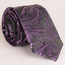 Retro Style Various Embroidered Abstract Pattern Neck Tie For Men - VIOLET