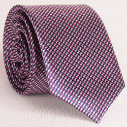 Concise Tiny Grid Pattern Neck Tie For Men - CHECKED