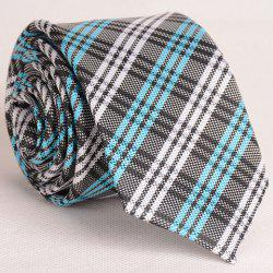 Fresh Style Colorful Stripe and Plaid Pattern Neck Tie For Men - CHECKED