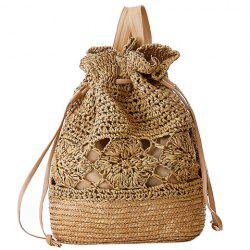 Preppy Hollow Out and Weaving Design Women's Satchel -