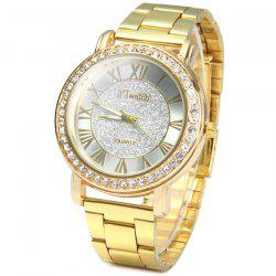 YTwatch Golden Color Female Quartz Watch Luxurious Diamond Wristwatch
