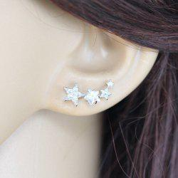 Pair of Fancy Rhinestone Star Earrings For Women