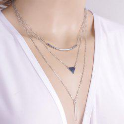 Chic Geometric Pendant Layered Link Design Necklace For Women