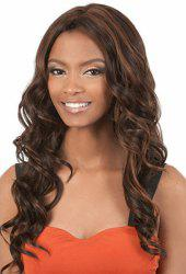 Mixed Color Fluffy Long Beyonce Deep Wavy Centre Parting Synthetic Charming Women's Lace Front Wig -