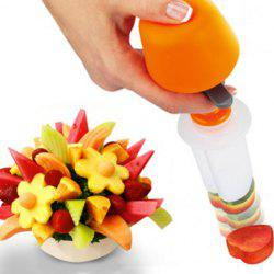 Pop Chef Fruit Cutter Food Salad Decorator Kit for Party Kids Kitchen Supplies