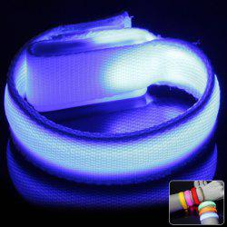 LED Flashing Wristband Bracelet with Velcro Band for Rave Party Outdoors Sports - BLUE