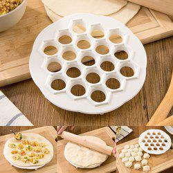 19 Grid Dumplings Maker Mold Kitchen DIY Tools for Making Dumplings - WHITE