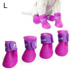 4pcs Pet Dog Puppy Skidproof Shoe Rain Boot