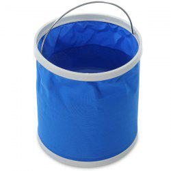 Portable Folding Bucket 11L for Outdoor Fishing / Car Washing / Hiking / Camping - BLUE
