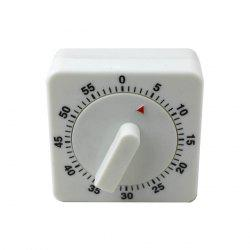 60 Minutes Cooking Count Down Timer Reminder Kitchen Timing Device - WHITE AND BLACK