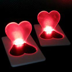 Ultra-slim LED Pocket Wallet / Purse Lamp / Light Credit Card Size Fold-up Heart Shape Mini Bulb - RANDOM COLOR
