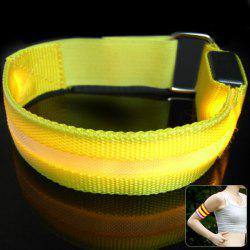 Practical Armband Safety with LED Light Walking Running Jogging Riding at Night - YELLOW