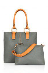 Stylish Color Block and Rings Design Women's Shoulder Bag
