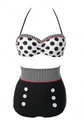 Sexy Polka Dot High Waisted Women's Bikini Set