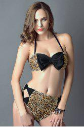 Leopard Print High Rise Bikini Set