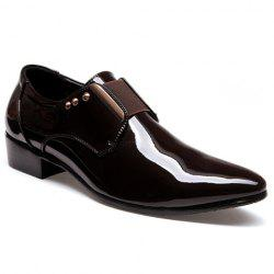 Fashionable Patent Leather and Rivets Design Men's Formal Shoes -