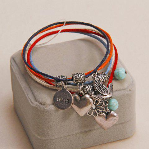 Cheap Bohemian Retro Style Heart Shape Multi-Layered Bracelet