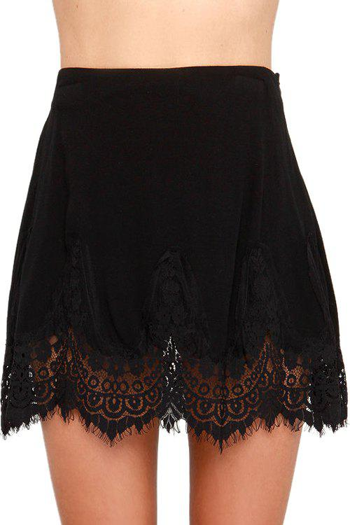 Affordable Black with Lace Women's Skirt