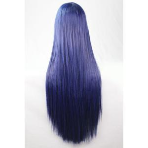 80CM Charming Glossy Side Bang Long Straight Heat Resistant Fibre Versatile Cosplay Wig -
