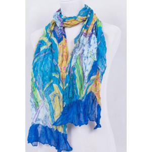 Chic Chains Pattern Patchwork Voile Scarf For Women -