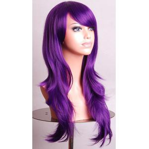 Fashion Side Bang 70CM Charming Long Big Wavy Heat Resistant Synthetic Cosplay Wig For Women