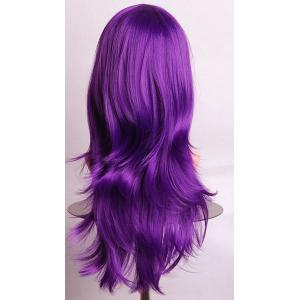 Fashion Side Bang 70CM Charming Long Big Wavy Heat Resistant Synthetic Cosplay Wig For Women -