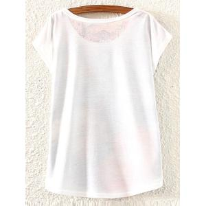 Casual Scoop Neck Print Short Sleeve T-Shirt For Women -