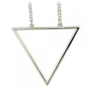 Chic Hollow Triangle Sweater Chain Necklace For Women