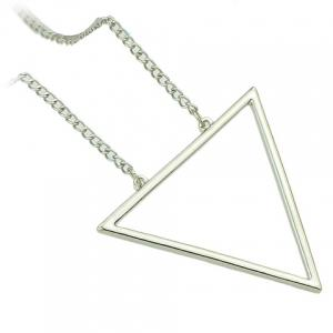 Chic Hollow Triangle Sweater Chain Necklace For Women -