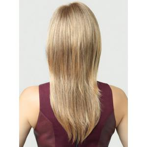 Multi-Layered Long Straight Heat-Resistant Full Bang Mixed Color Stylish Synthetic Women's Capless Wig -