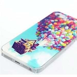 Kinston Colorful Balloons Pattern Hard Back Cover Case for iPhone SE / 5 / 5S -