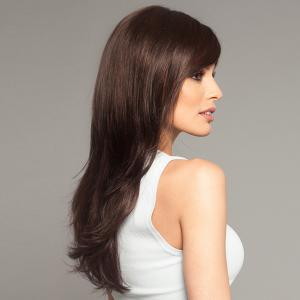 Pretty Charming Long Hairstyle Layered Fluffy Straight Affordable Women's Capless Real Human Hair Wig -