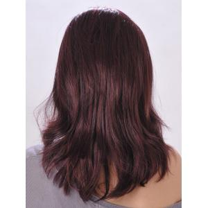 Fashion Fluffy Side Bang Sexy Charming Long Straight Slightly Curled Synthetic Capless Wig For Women -