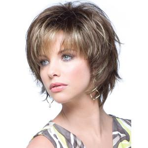 Fashion Towheaded Side Bang Charming Short Curly Synthetic Capless Wig For Women