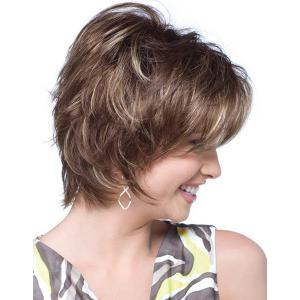Fashion Towheaded Side Bang Charming Short Curly Synthetic Capless Wig For Women -