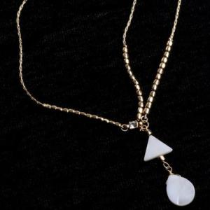 Trendy Bohemian Style Triangle and Waterdrop Shape Hairband For Women - WHITE/GOLDEN