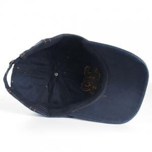 Stylish Sewing Thread and Retro Letters Shape Embellished Visor For Men - DEEP BLUE