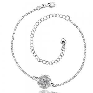 Classic Round Rhinestone Hollow Out Solid Color Fancy Anklets