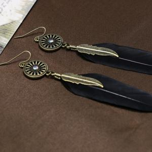 Leaf Feather Shape Earrings -
