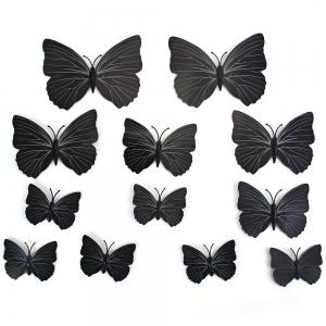 12pcs PVC 3D Butterfly Wall Decor Cute Butterflies Wall Stickers Art Decals Home Decoration (Random Pattern) -