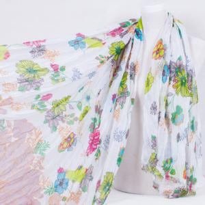 Chic Various Flowers Pattern Multifunctional Voile Scarf For Women -