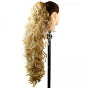 Stylish Capless Heat Resistant Synthetic Charming Long Curly Ponytail For Women -