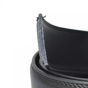 Stylish Stereo Triangle Alloy Embellished Faux Leather Belt For Men -