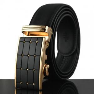 Stylish Polka Dot Shape Alloy Embellished Faux Leather Belt For Men