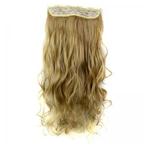 Fashion 23 Inch Long Curly Clip-In Heat Resistant Synthetic Hair Extension For Women - /