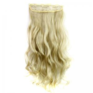 Fashion 23 Inch Long Curly Clip-In Heat Resistant Synthetic Hair Extension For Women - 24-613