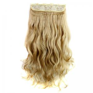 Fashion 23 Inch Long Curly Clip-In Heat Resistant Synthetic Hair Extension For Women -