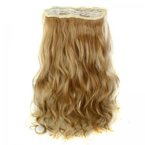 Fashion 23 Inch Long Curly Clip-In Heat Resistant Synthetic Hair Extension For Women - H