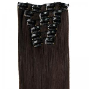Long Straight Clip-In Heat Resistant Synthetic Hair Extension Suit For Women -